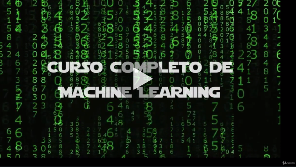 Curso completo de Machine Learning: Data Science en Python (Udemy)